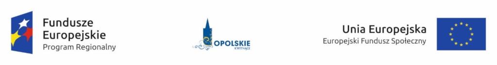 Logo Fundusze Europejskie Unia Europejska Opolskie Kwitnące